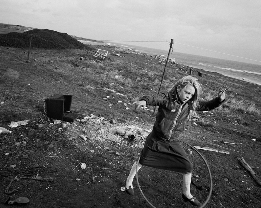 Helen and Her Hula-hoop, Lynemouth, Northumberland; Chris Killip