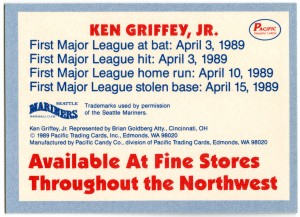 Ken Griffey Jr Bar back