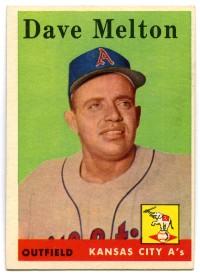 Dave Melton 1958 Topps