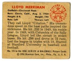Lloyd Merriman 1950 Bowman