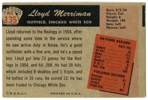 Lloyd Merriman 1955 Bowman