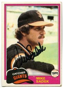 Mike Sadek 1981 Topps