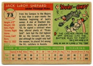 Jack Shepard 1955 Topps
