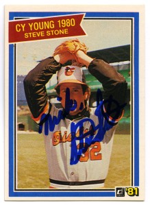Steve Stone 1981 Donruss