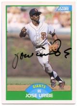 Jose Uribe 1989 Score