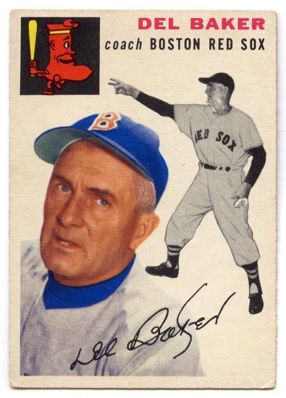 Del Baker 1954 Topps