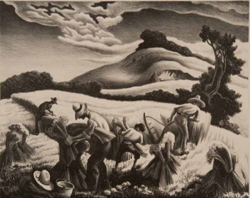 Thomas Hart Benton Cradling Wheat, 1939