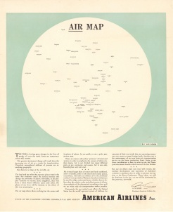 American Airlines Inc., Air Map, 1943
