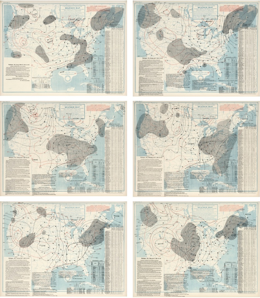 U.S. Department of Agriculture, Weather Bureau, (United States) Weather Map, 1901.